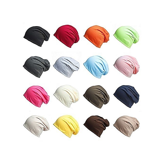 Unisex Winter Casual Knitted Warm Solid Color Sports Slouch Hat Baggy Beanie  Cap-Ivory 7ac1161633d