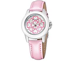 Pink Flower Design Watch