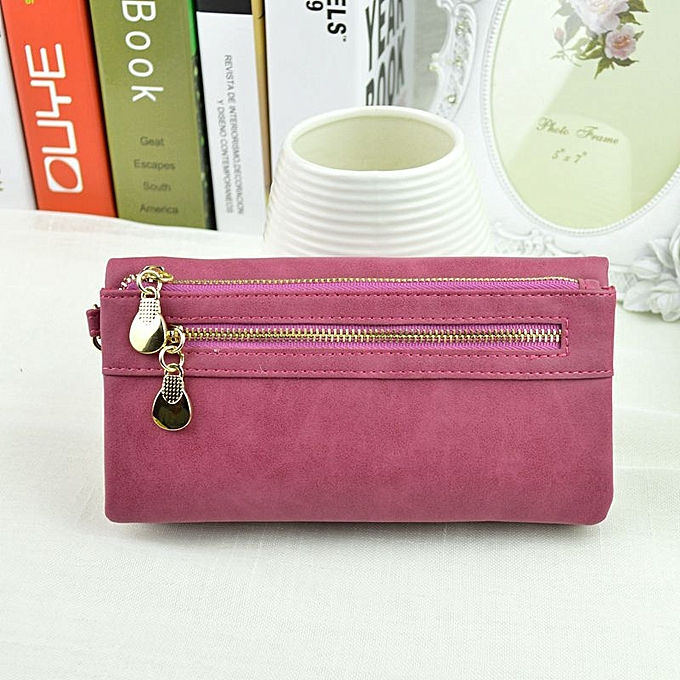 Yingwei High Quality Ladies PU Leather Wallet Portable Purse Coffee