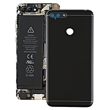 Back Cover with Side Keys & Camera Lens for Huawei Honor Play 7A(Black)
