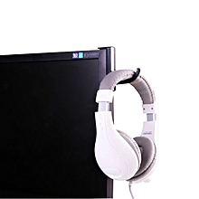 Internet Cafes Dedicated Dual Adhesive Tape Hanger Headset Holder for Computer Monitor