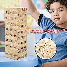 Educational Wooden Jenga Wooden Block Puzzle Kids Children Numbers Early Learning Props Table Toy