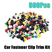 New 500Pcs Plastic Car Fastener Clip Bumper Fender Trim Kit Rivet Door Panel