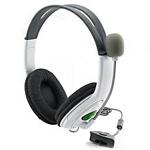 Gaming Headset With Adjustable Microphone For Xbox 360 Durable Game Headphone grey white