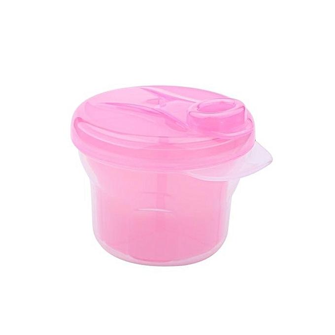 1Pcs Portable Milk Powder Formula Dispenser Containers Baby Kids Toddler Feeding Box (Pink)