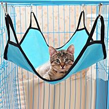 Pet Bed Cat Hanging Bed Cattery Mat Durable Kitten Cat Hammock Comfortable Soft Hanging Fleece Pet Cage Hammock Bed