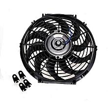 "12"" 12V 80W Slim Reversible Electric Radiator Cooling Fan Push Pull Easy Install"