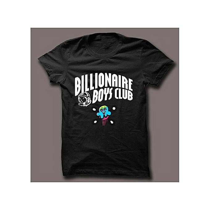 38ae492d Generic Billionaire Boys Club Ice Cream Logo Black T Shirt Men ...