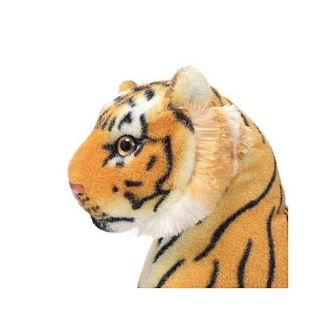 One 1 Giant Tiger Plush Black Stripes Long Tail B978939