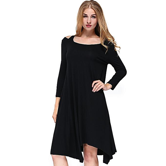 eac27ae1be Casual Women Long Sleeve Beach Short Mini Dress Ladies Evening Party Dresses