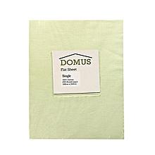 Flat Sheet - Single - 180cm x 240cm - 250T Cotton - Ivory