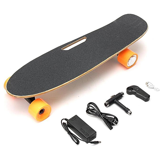 Remote Control Skateboard >> Generic New Electric Longboard Skateboard 4 Wheels Wireless Remote