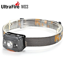 W03 110Lm AAA Waterproof LED Headlamp - Gray