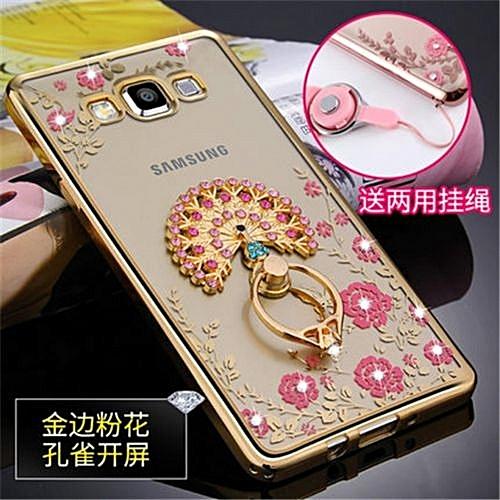 """Luxury Rhinestone Phone Case Cover Holder Stand For Samsung Galaxy E7 E7000 E7009 5.5"""" Inch"""