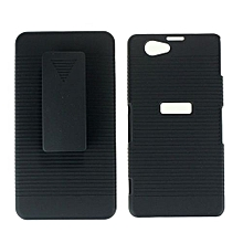 New Combo Mobile Phone Protection Shell For Sony Xperia Z3 Mini Compact -Black