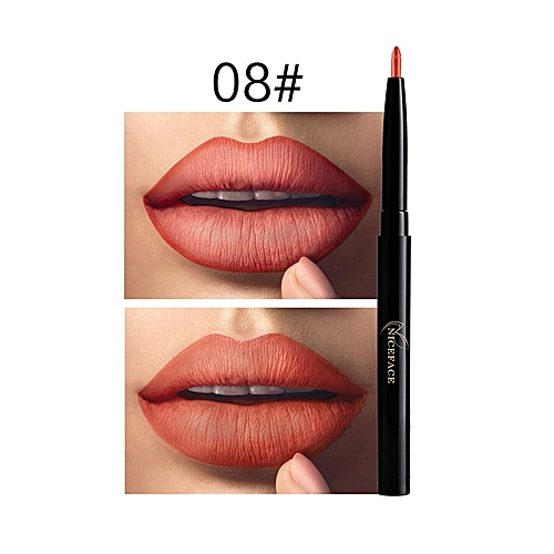 Niceface New Long Lasting Lip Liner 12 Colors Cosmetics Waterproof Pigment  Sexy Red Purple Contour Matte Lips Pencil Makeup 1 PC(#8)
