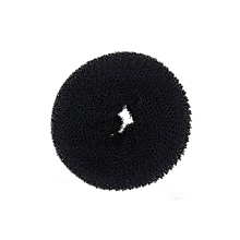 Women's Blonde Donut Hair Ring Bun Former Shaper Hair Styler Maker Tool Black