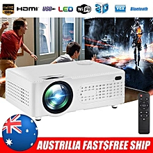 7000 Lumens 1080P Multimedia Projector DLP USB WiFi Home Theatre HDMI Bluetooth