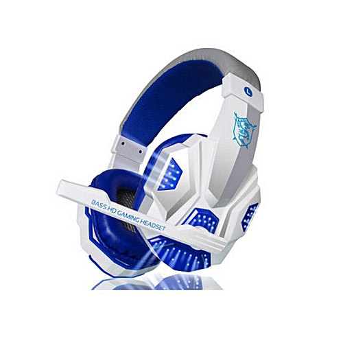LEBAIQI PC780 Casque audio PC Gaming Headphone with Mic Stereo Bass(Blue White)