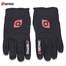 Paired Windproof MTB Motorcycle Road Bike Racing Cycling Full Finger Gloves - Black