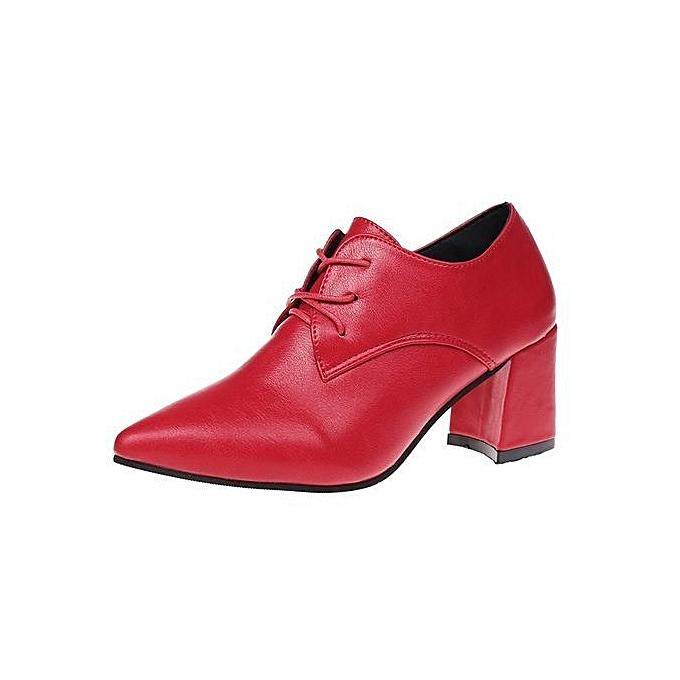 8df89224c6 bluerdream-Womens Pumps Lace-Up Heels Shoes High Block Heel Ankle Biker  Boots Shoes
