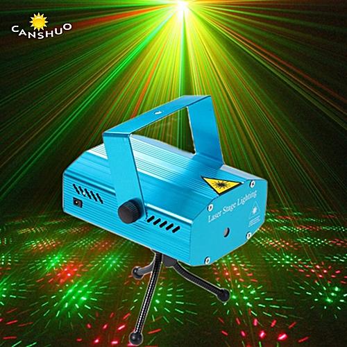 Generic Mini LED Laser Projector Christmas Decorations Laser Disco Light Laser Light Dj Voice-activated DJ Disco Xmas Party Club Light ASQOB