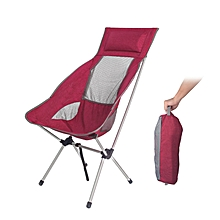 IPRee® Portable Folding Chair Camping With Pillow Ultralight For Fishing Picnic Max Load 180 kg