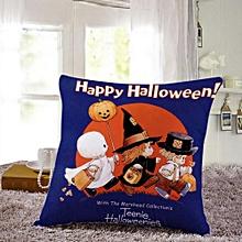 Halloween Pillow Cases  Linen Sofa Pumpkin ghosts Cushion Cover Home Decor A