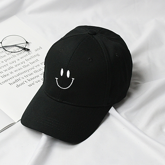 c259d69c9ddf 1Smiling face style black2018 new style of sored cap female tide student's  baseball caps stayed overnight