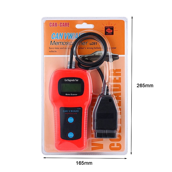 OBD2 OBDII Memo Scanner U281 Car Engine Diagnostic Tool CAN BUS Code