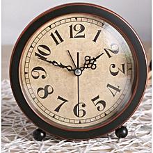 Creative alarm clock vintage style desk Dia.13.7cm clock home office decor