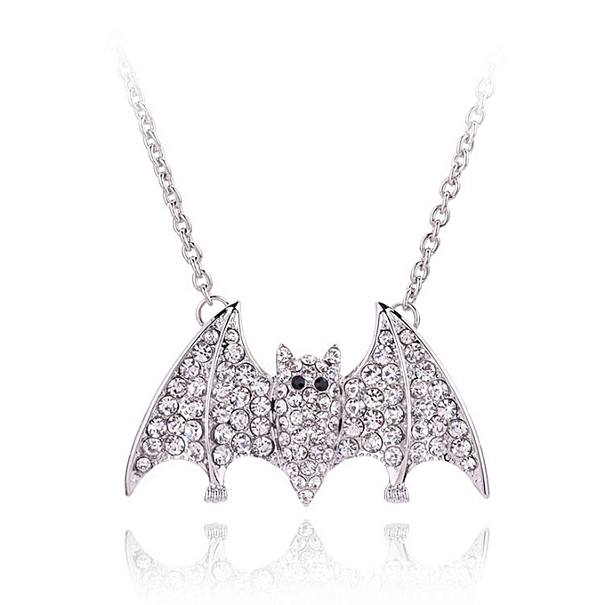 Elder Brother Especially The Type Is Full And Drill A Bat Necklace Female