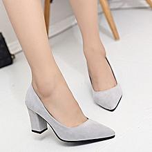 Thin Heel Pointed Toe Women Thin Heel Grey