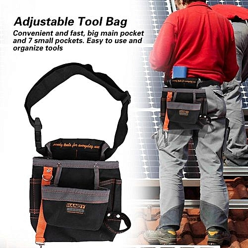024cb068fd17 8 Pockets Belt Tool Bags Adjustable Portable Pouch Electrician Bag