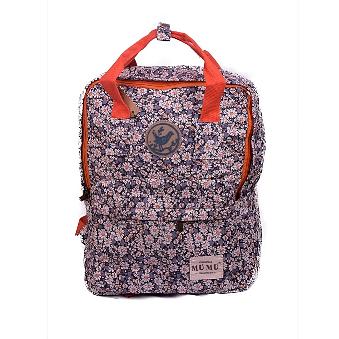 468d5792a1f8 Generic Stylish Ladies Navy Blue and White Mixed Floral Canvas ...