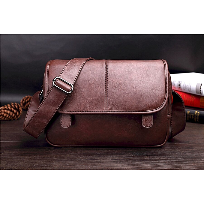 cef98be324cb Wholesale Price Good Quality men's Messenger Bags Pu Leather Travel Bag  Luxury Pretty Style Shoulder Bags Drop Shipping(deep coffee)