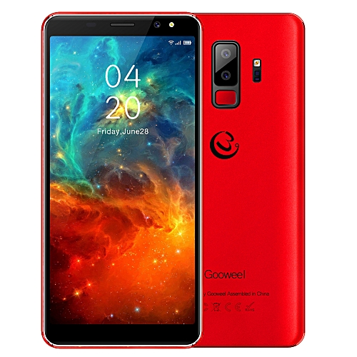 Gooweel S9 Smartphone 5.72-Inch 18:9 Full Screen Quad Core Android 5.1,5MP+2MP Camera 2500mAh 3G Mobile Phone GPS Bluetooth - Red