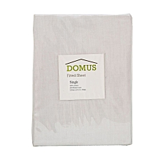 Fitted Sheet - Single - 120cm x 200cm - 250T Cotton - White