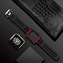 TOTUDESIGN Armour Series TPU+PC Watch Strap for Apple Watch Series 4 & 3 & 2 & 1 42mm & 44mm (Red)