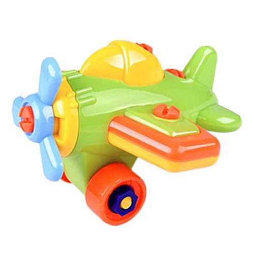 Braveayong Disassembly Aircraft Design Educational Intelligence Toys For  Children Kids Gift -Multicolor