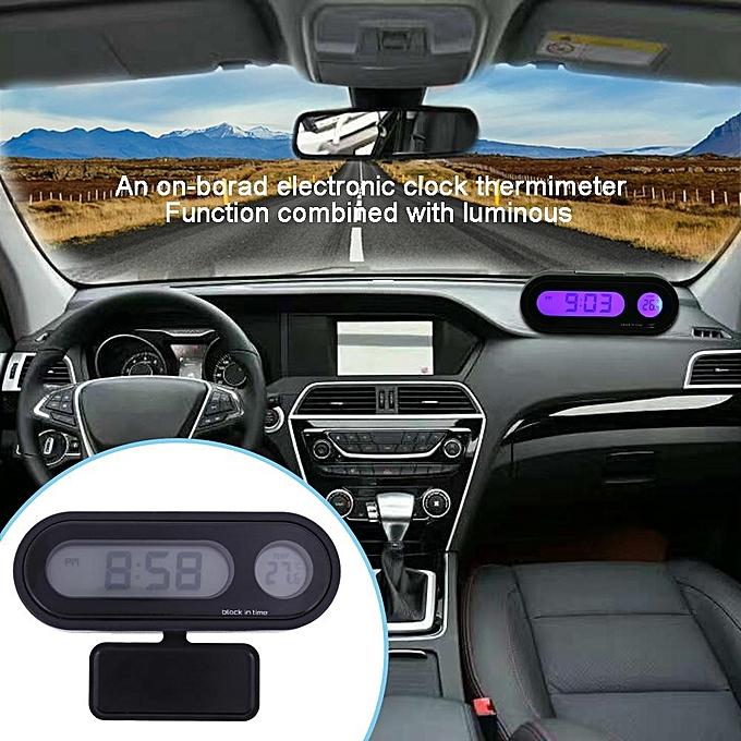 Buy Generic Car Interior Digital Display Thermometer Voltmeter