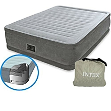 Dura-Beam Comfort Plush Mid Rise Air Bed Single (3 by 6) with Built-in Electric Pump
