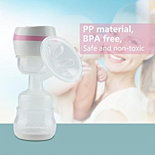 New One-Piece Electric Automatic Breast Pump Baby Infant Breastfeeding Set US 110-240V(Pink)