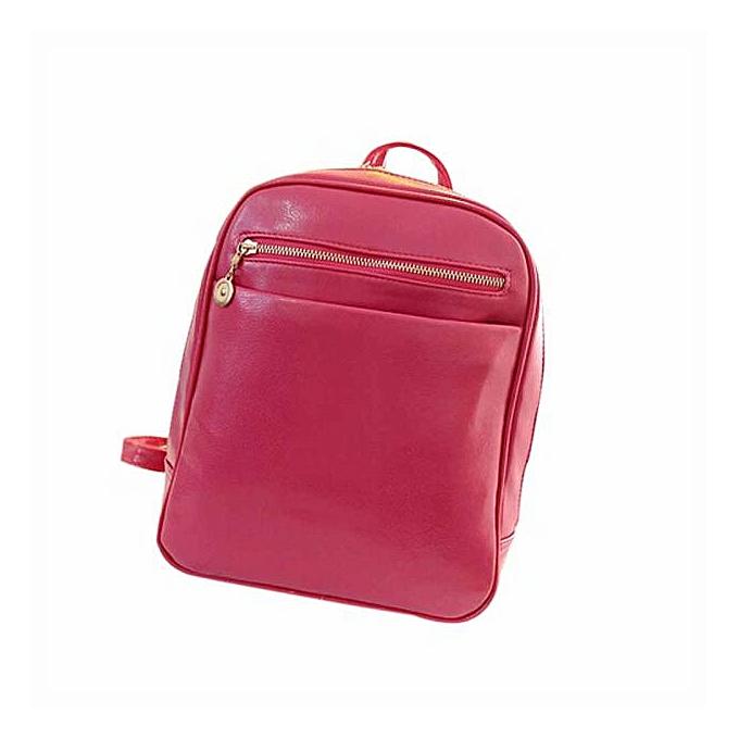 801a20b5abd Girls Leather School Bag Travel Backpack Satchel Women Shoulder Rucksack  Hot-Hot Pink