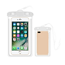 Outdoor Waterproof Pouch Swimming Beach Dry Bag Case Cover Holder for Cell Phone-White