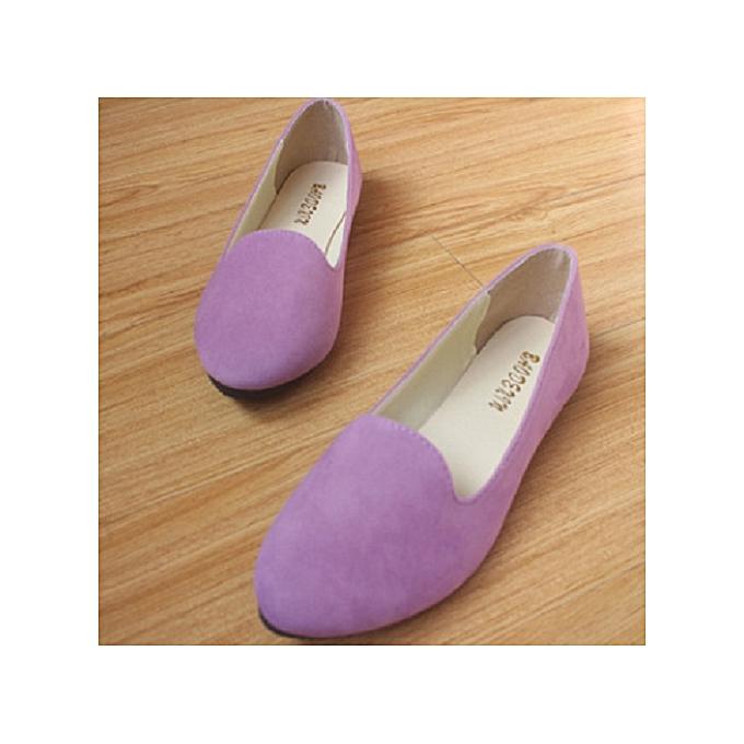 b7a3731442dc6 Purple Flat Doll Shoes