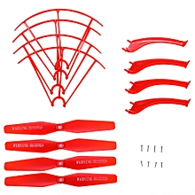Landing Skid + Protection Frame / Propeller Set With Screw For X5HW X5HC RC Quadcopter - Red