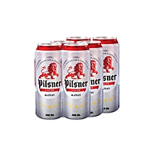 Lager Beer 6 Cans - 500ml