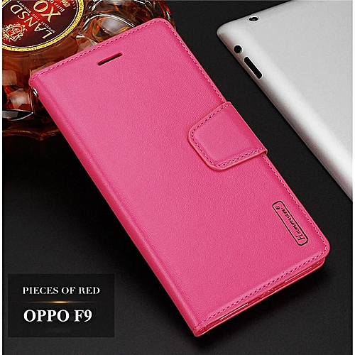 newest bebaa 1f484 Elegant Flip Cover For OPPO F9 Wallet Stand Leather Case Card Slot Casing  Suit For F9 Pro
