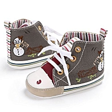 bluerdream-Baby Girl Boys Soft Sole Infant Toddler Newborn Shoes-Gray